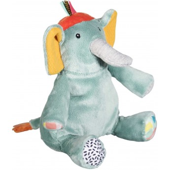 Przytulanka Słoń Ziggy dla niemowląt od urodzenia, Ebulobo