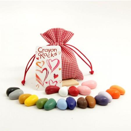 Kredki kamyki 20 kolorów w woreczku Valentine, Crayon Rocks
