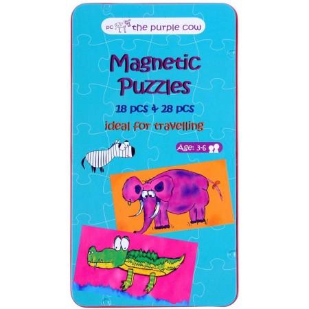 Puzzle magnetyczne 18 i 28 elementów, The Purple Cow
