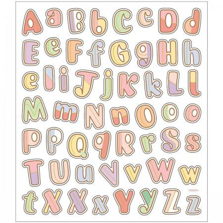 Alfabet (wzór 2) naklejki metaliczne, Creativ Company