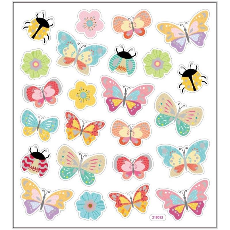Motyle i Biedronki ozdobne naklejki metaliczne dla dzieci +3, Creativ Company