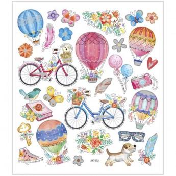 Rowery i Balony ozdobne naklejki metaliczne dla dzieci +3, Creativ Company