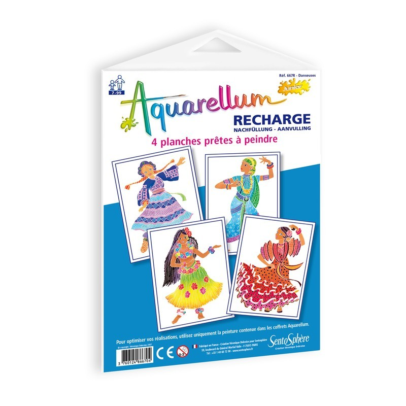 Tancerki Ludowe plansze do Aquarellum Junior, SentoSphere