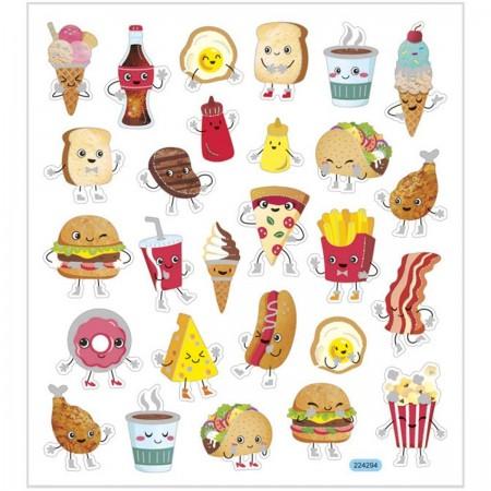 Fast Food ozdobne naklejki metaliczne dla dzieci +3, Creativ Company