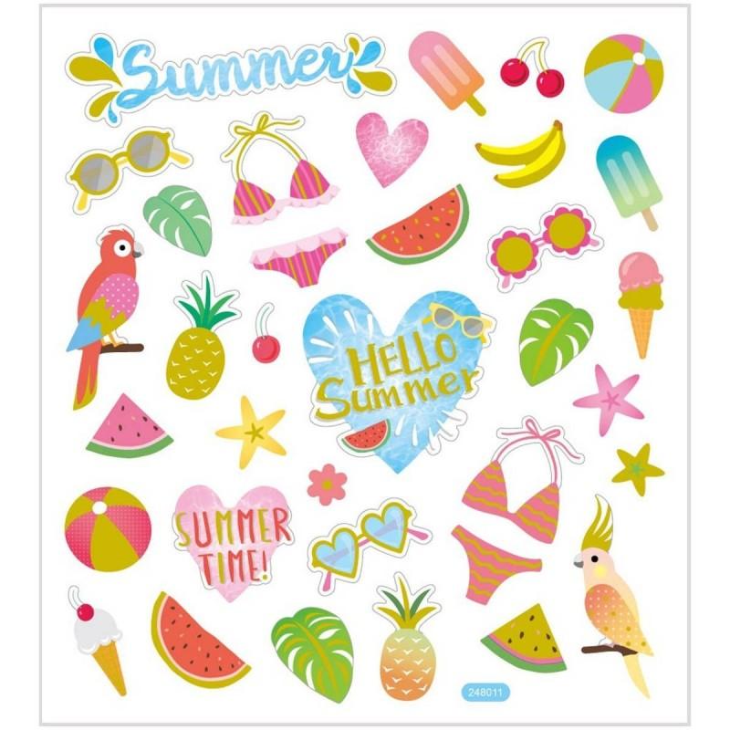 Lato ozdobne naklejki metaliczne dla dzieci +3, Creativ Company