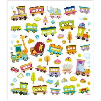 Pociąg ze Zwierzętami ozdobne naklejki metaliczne dla dzieci +3, Creativ Company
