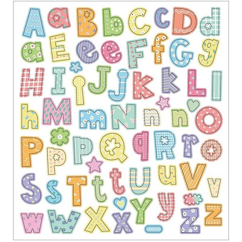 Alfabet (wzór 3) naklejki metaliczne, Creativ Company