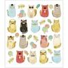 Zabawne koty naklejki ozdobne metaliczne dla dzieci, Creativ Company