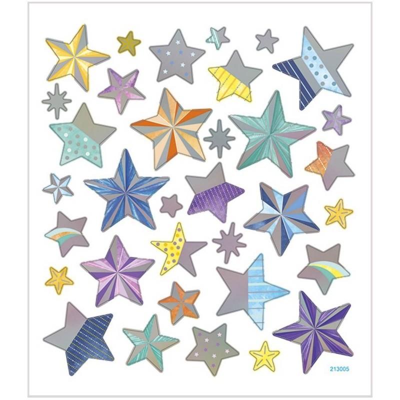 Gwiazdeczki naklejki ozdobne metaliczne, Creativ Company