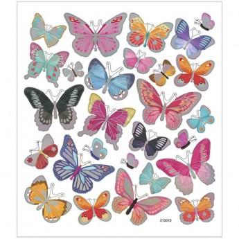 Motylki srebrne ozdobne naklejki metaliczne dla dzieci +3, Creativ Company