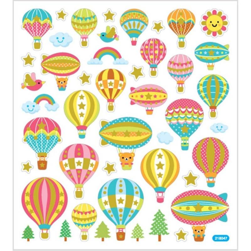 Loty Balonem ozdobne naklejki dla dzieci +3, Creativ Company