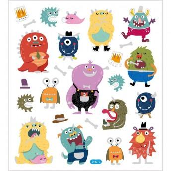 Potwory ozdobne naklejki dla dzieci +3, Creativ Company