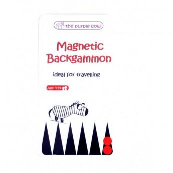Backgammon (Tryktrak) gra magnetyczna podróżna dla dzieci od 4 lat, The Purple Cow