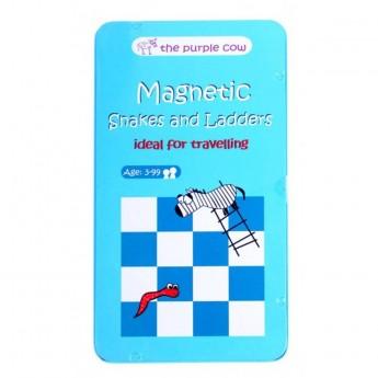 Węże i drabiny gra magnetyczna podróżna dla dzieci od 3 lat, The Purple Cow