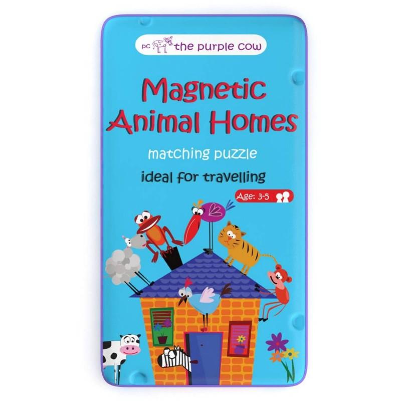 Puzzle magnetyczne 2 elementowe Zwierzęta i ich Domy, The Purple Cow