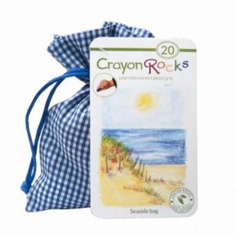 Kredki kamyki 20 kolorów w woreczku Seaside, Crayon Rocks