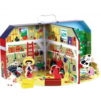 Vilac Farma Do Zabawy W Walizce Z 13 Figurkami Dla Dzieci 3 Dadum