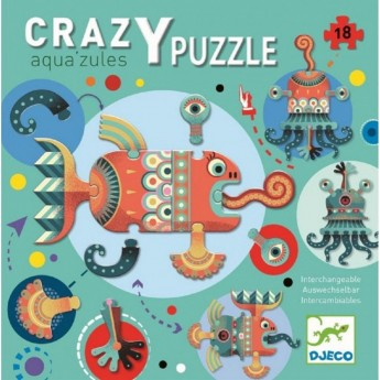 Djeco Puzzle kartonowe Aqua'zules