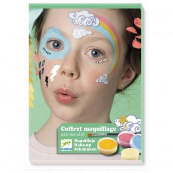Djeco Zestaw do malowania twarzy TĘCZA