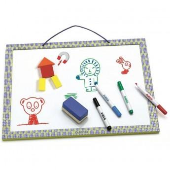 Djeco tablica magnetyczna suchościeralna z 4 pisakami