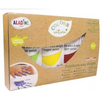 Aladine Farby do malowanie palcami +18mc 100% naturalne