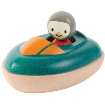 Plan Toys Drewniana motorówka zabawka do kąpieli