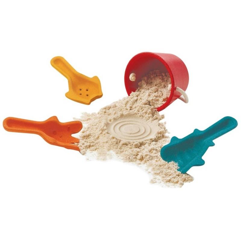 Zestaw do zabawy w piasku dla dzieci drewniany, Plan Toys