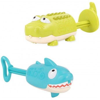 B.Toys Psikawki do kąpieli Rekin i Krokodyl od 18 mc Splishin' Shark
