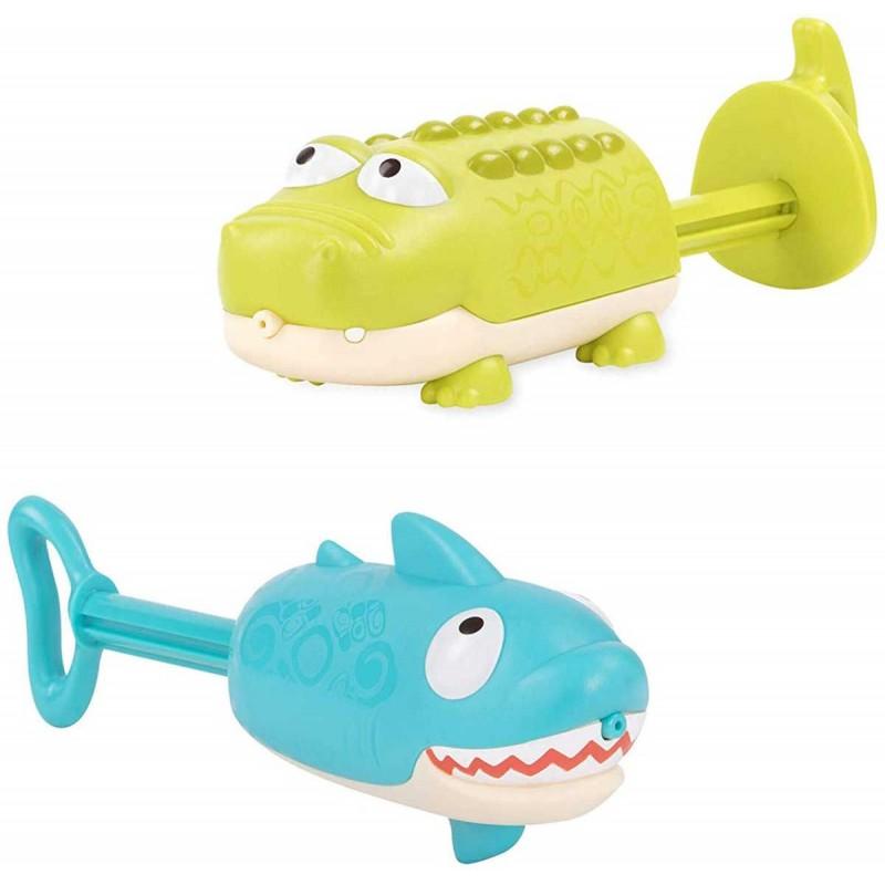 B.Toys Psikawki do kąpieli Rekin i Krokodyl od 18 mc Splishin' Shark
