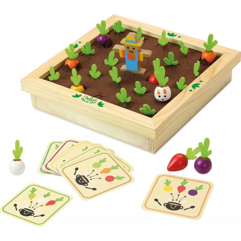Vilac Gra pamięciowa memo Ogród Warzywny dla 3 latka drewniana