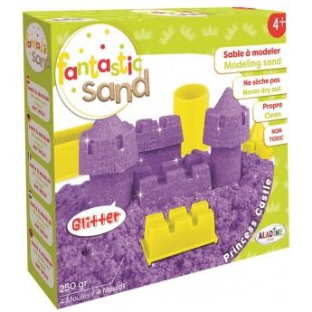 Aladine Radosny Piasek Pałac fioletowy z brokatem dla dzieci od 4 lat