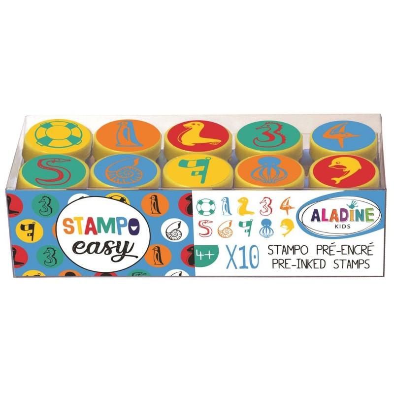 Aladine Stemple Easy Cyfry w Symbolach Morskich 10 sztuk