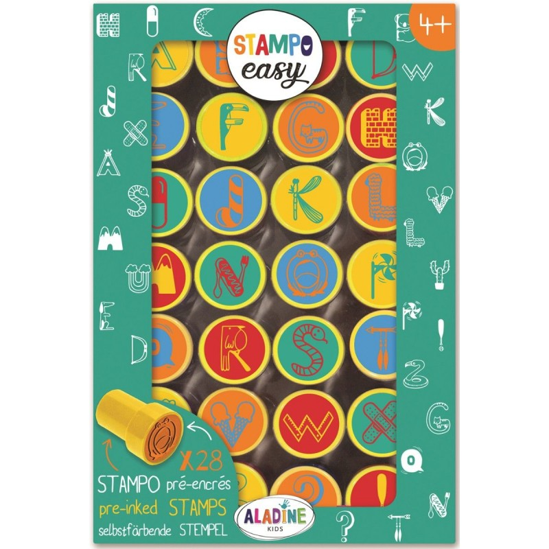 Aladine Stemple Easy Alfabet w Symbolach 28 sztuk