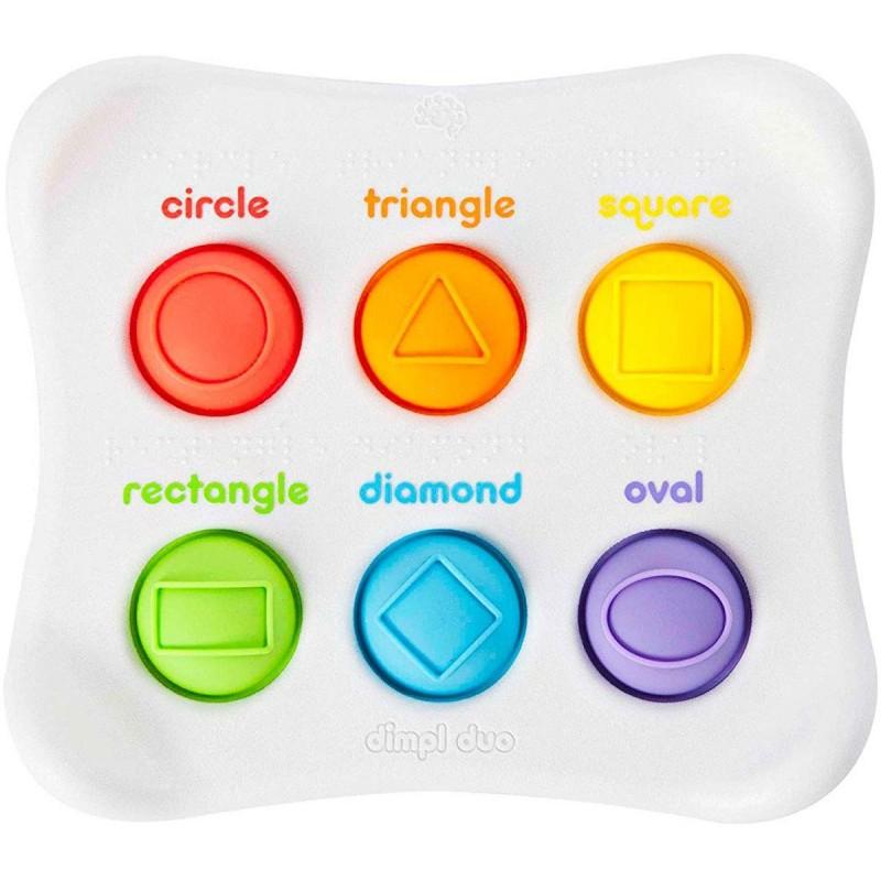 Dimpl Duo bąbelki z kształtami zabawka sensoryczna, Fat Brain Toys