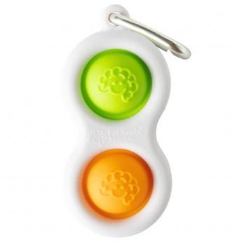 Simpl Dimpl Orange/Lime breloczek-zabawka antystresowa, Fat Brain Toys