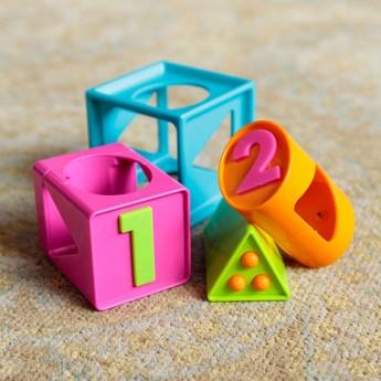 Łamigłówka dla 2 latka Smarty Cube 1-2-3, Fat Brain Toys