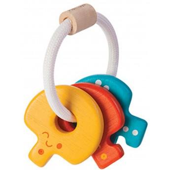 Drewniana grzechotka klucze, Plan Toys