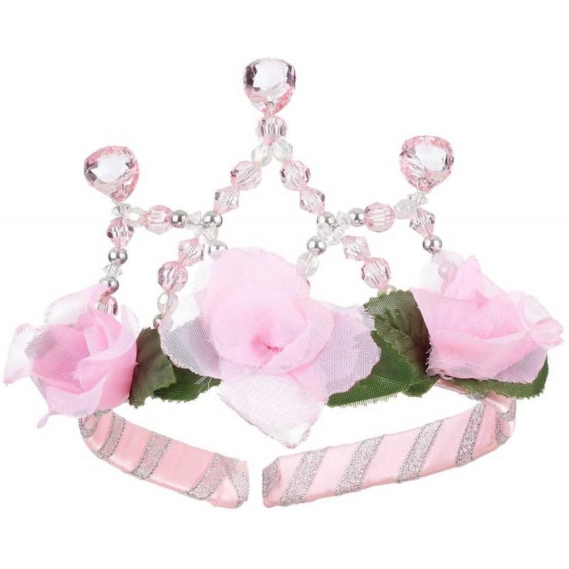 Plastikowa korona księżniczki Catherina różowo-srebrna, Souza!