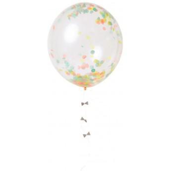 Zestaw 8 dużych balonów Konfetti Neonowe, Meri Meri