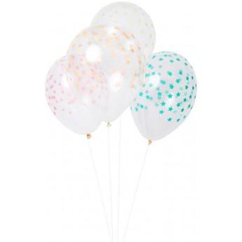 Balony Gwiazdki kolorowe, Meri Meri
