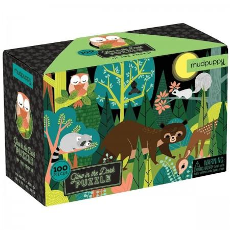 Mudpuppy Puzzle świecące w ciemności W lesie 100 elementów 5+