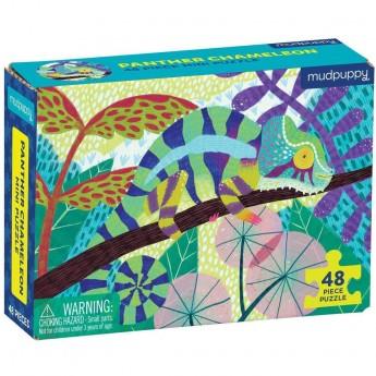 Mudpuppy Puzzle mini Kameleon lamparci 48 elementów 4+
