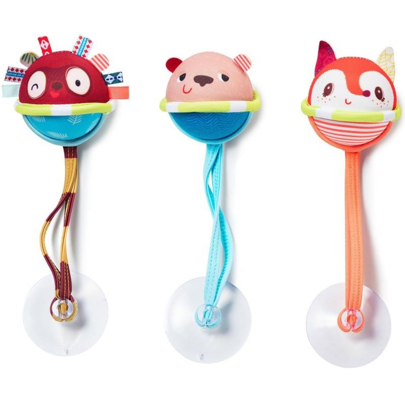 Lilliputiens Zabawka do kąpieli 3 piłeczki z przyssawkami