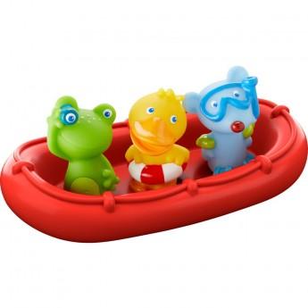 Haba zabawka do kąpieli łódka ze zwierzętami