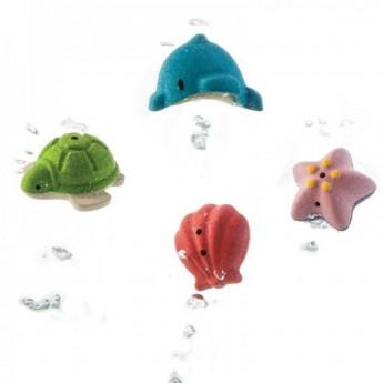 Zabawki do kąpieli zwierzątka morskie +6m, Plan Toys