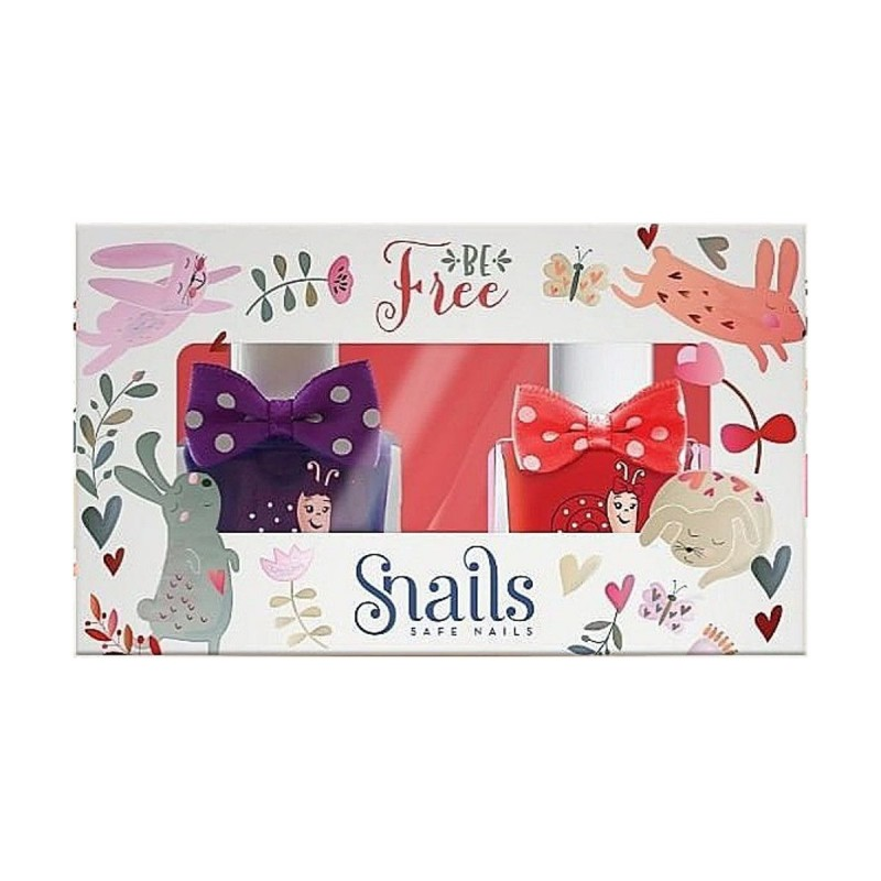 Zestaw lakierów do paznokci dla dzieci Snails Goes Happy - Be Free