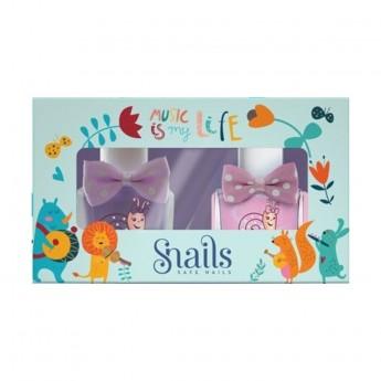 Snails Goes Happy - Music Is My Life Zestaw 3 lakierów do paznokci dla dzieci