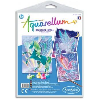Aquarellum Pegaz 3 plansze zapasowe do malowania, SentoSphere