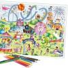 SentoSphere Wesołe Miasteczko plakat z kredkami do kolorowania +5