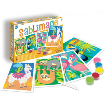 SentoSphere Sablimage Zwierzęta Południowoamerykańskie 4 obrazki piaskowe